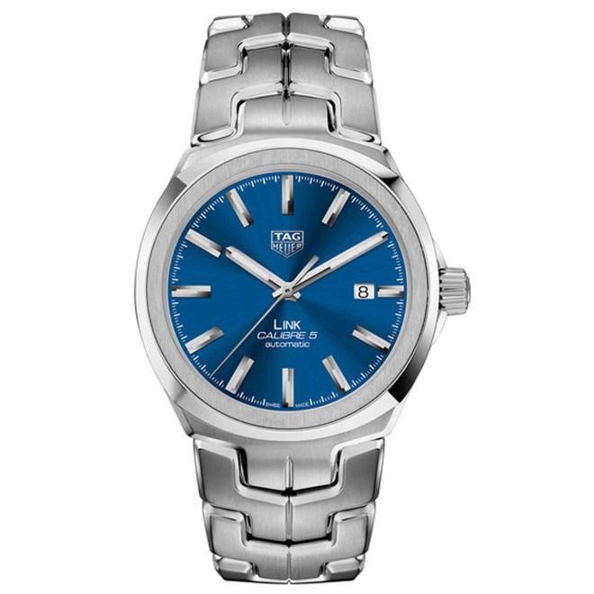 TAG HEUER LINK Calibre 5 Reloj automático 100 M - ∅41 mm, Esfera Azul Acero