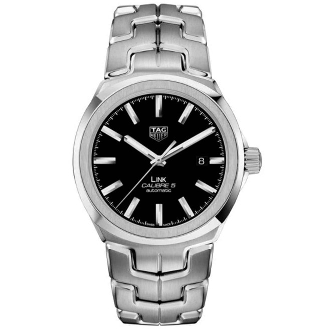 TAG HEUER LINK Calibre 5 Reloj automático 100 M - ∅41 mm, Esfera Negra, Acero