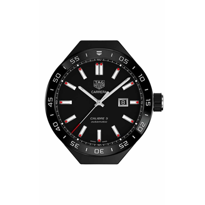 TAG HEUER CARRERA Mechanical module accessory Calibre 5 Watch 100 M - ∅ 45 MM