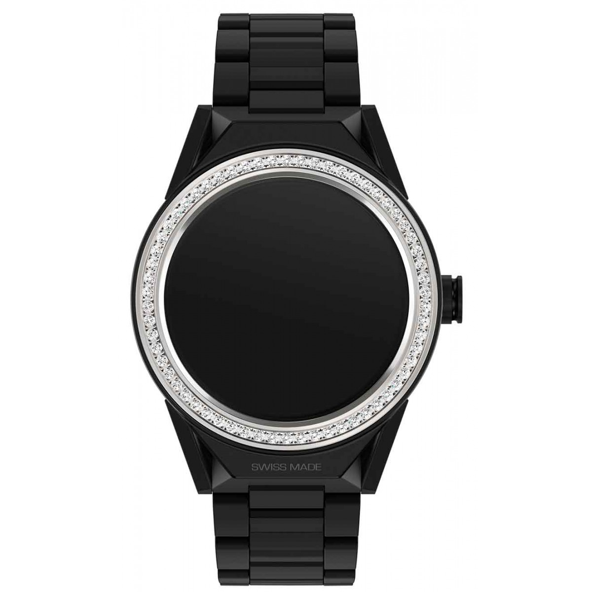 TAG HEUER CONNECTED MODULAR 45 50 M - ∅45 mm Correa de cerámica negra con bisel con diamantes