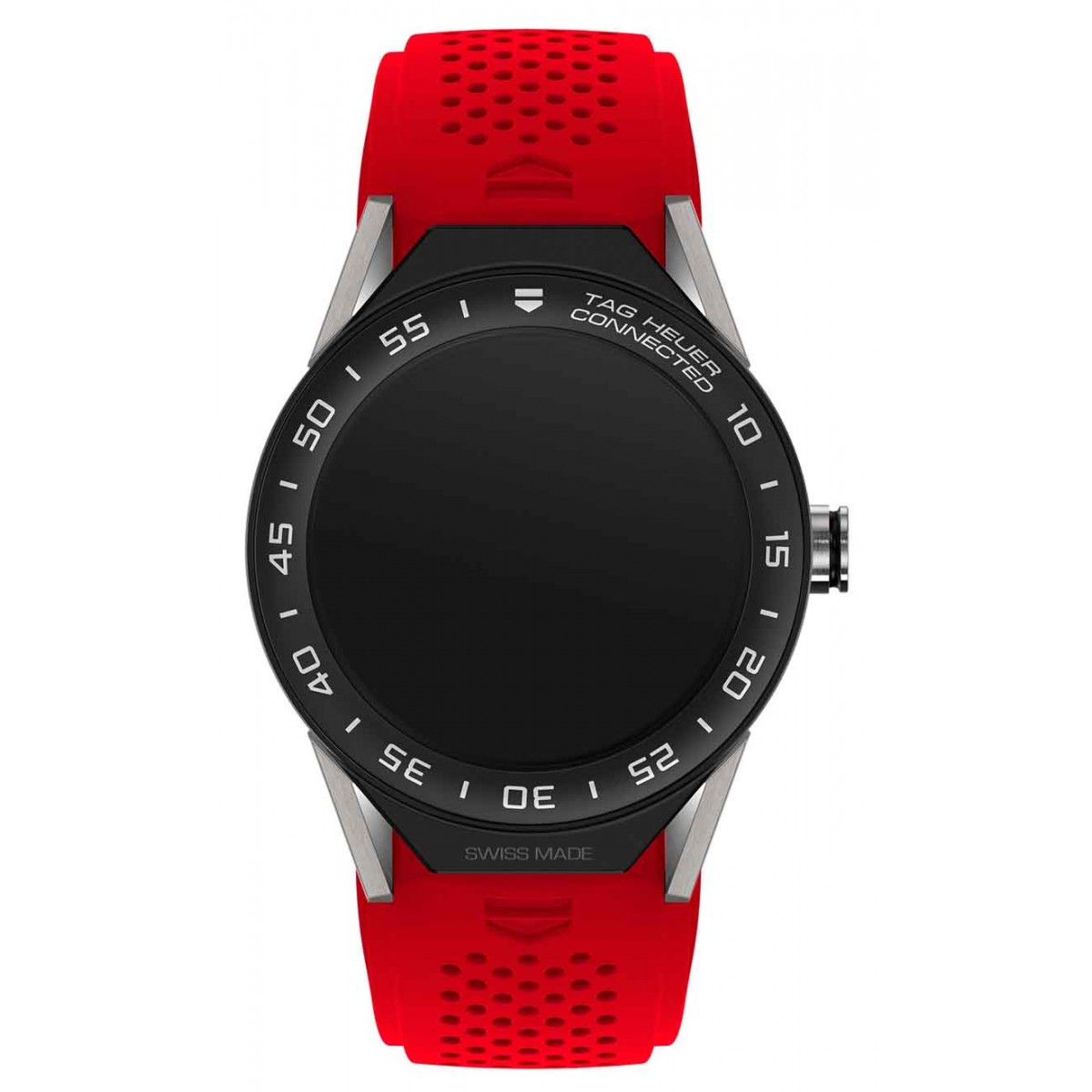 TAG HEUER CONNECTED MODULAR 45 50 M - ∅45 mm Red rubber with Black Mat Ceramic Bezel, titanium lugs