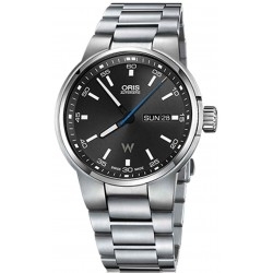 Oris Williams Day Date - 100 M - ∅42 mm, Automatico, Esfera negra, Brazalete Acero