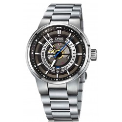 Oris Williams Engine Date - 100 M ∅42 mm, Automatico, Esfera Esqueleto, Acero