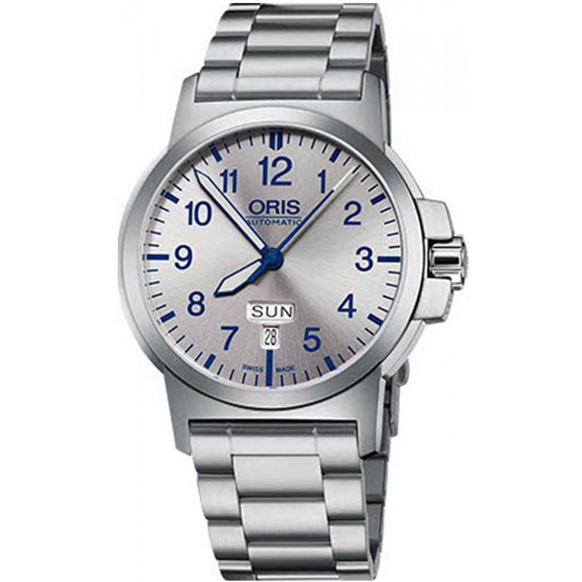 ORIS BC3 ADVANCED, DAY DATE - 100 M ∅42 mm, Automatico, Esfera plata, Acero
