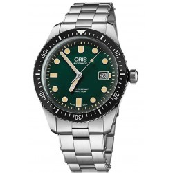 ORIS DIVERS SIXTY-FIVE -100 M ∅42 mm, Esfera verde, Acero