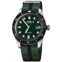 ORIS DIVERS SIXTY-FIVE -100 M ∅42 mm, Esfera verde, Tela verde