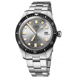 ORIS DIVERS SIXTY-FIVE -100 M ∅42 mm, Esfera plata, Acero