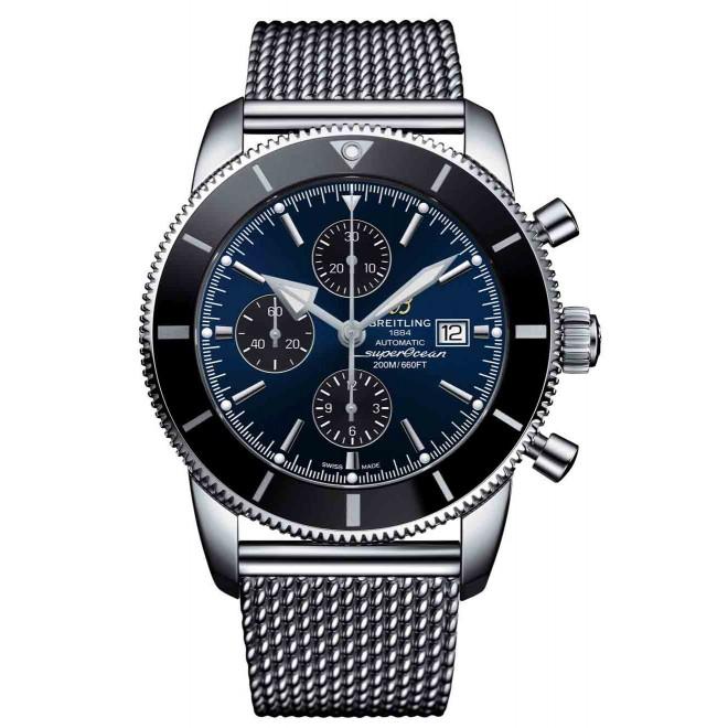 Breitling Superocean Héritage II Chronograph 46 - 200 M - ∅46 mm, Esfera Azul bisel negro, Acero