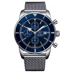 Breitling Superocean Héritage II Chronograph 46 - 200 M - ∅46 mm, Esfera Azul bisel azul, Acero