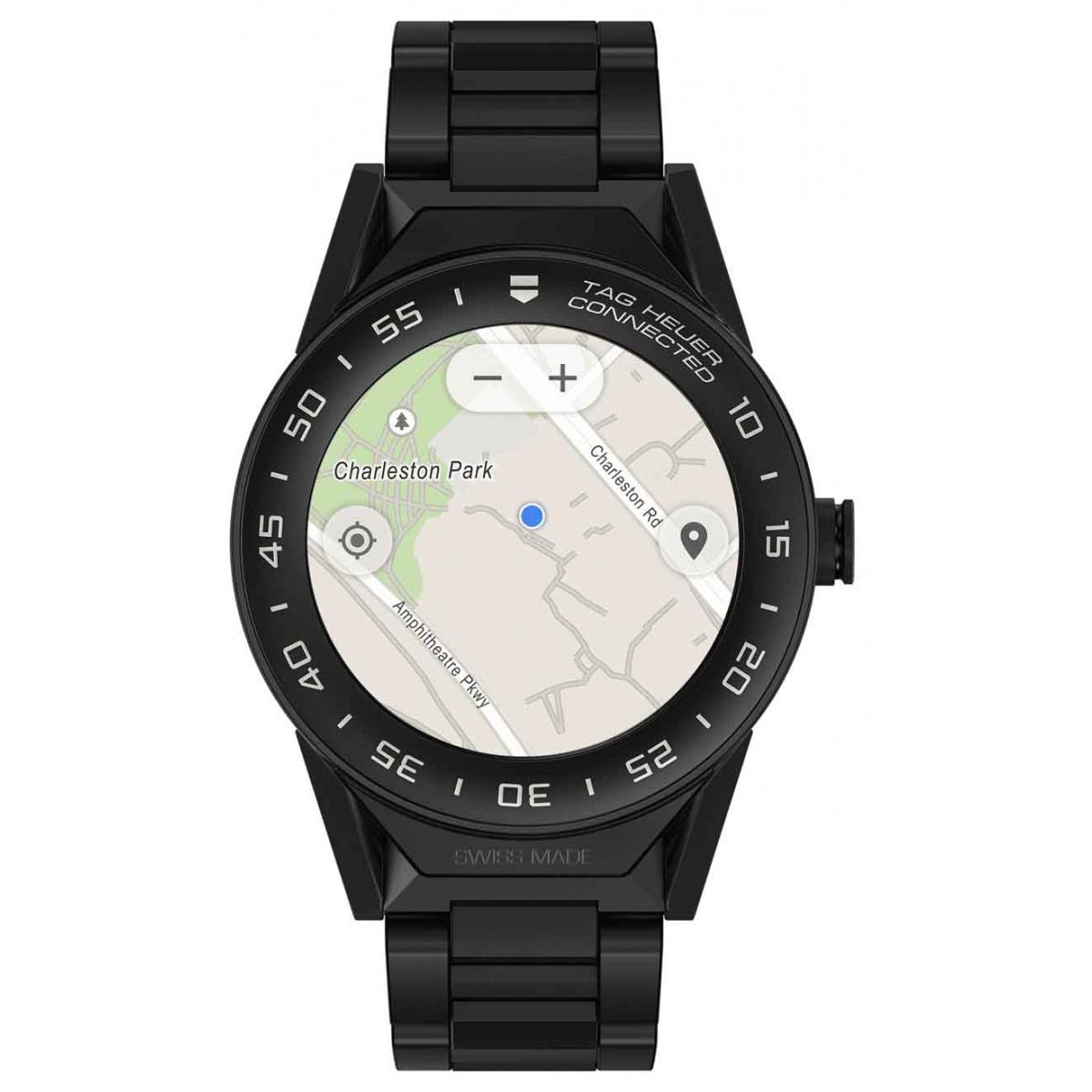 TAG HEUER CONNECTED MODULAR 41 50 M - ∅41 mm BLACK PVD TITANIUM, CERAMIC BLACK BEZEL, Matte black ceramic bracelet