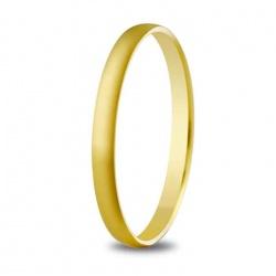 Alianza de boda 2 mm de ancho en oro amarillo de 18 quilates