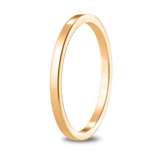 Alianza de boda 1,65 mm de ancho en oro rosa de 18 quilates