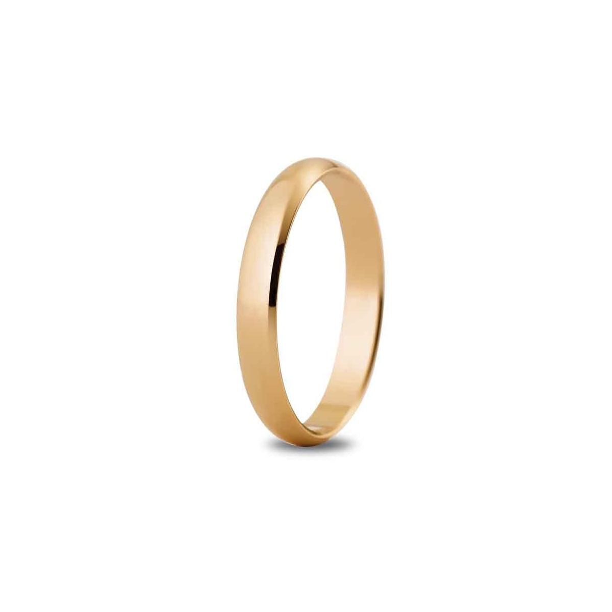 Alianza de boda 3 mm de ancho en oro rosa de 18 quilates