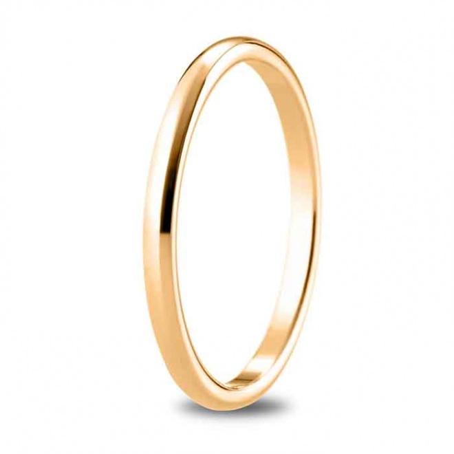 Alianza de boda 1,80 mm de ancho en oro rosa de 18 quilates