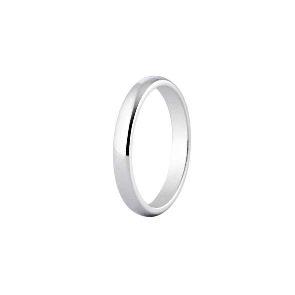 Alianza de boda 3 mm de ancho en platino