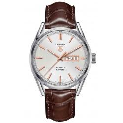 TAG HEUER CARRERA Calibre 5 Day-Date Reloj automático 100 M - ∅41 mm, Piel marrón