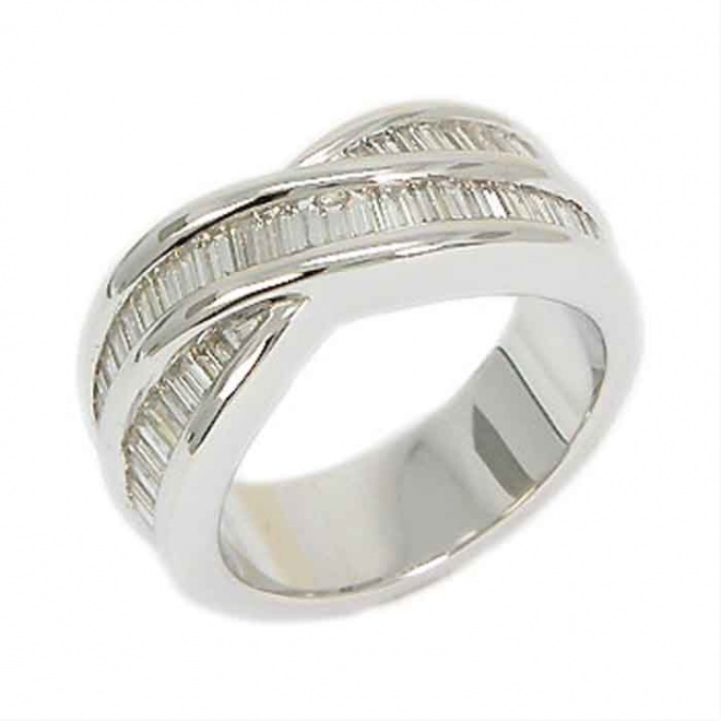 Anillo Oro Blanco y Brillantes 1,27 Quilates