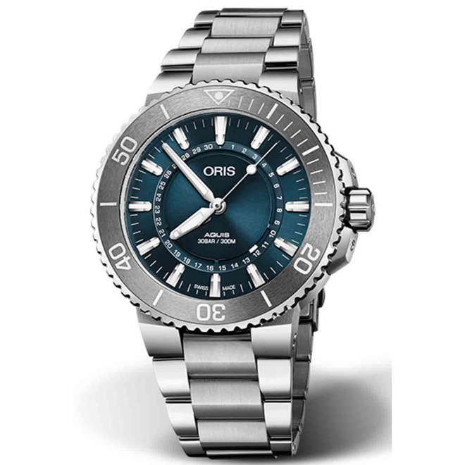 ORIS AQUIS SOURCE OF LIFE LIMITED EDITION 300 M ∅43,5 mm, Esfera azul, Acero