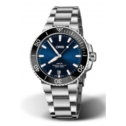 ORIS AQUIS DATE -300 M ∅39,5 mm, Esfera azul, brazalete de acero
