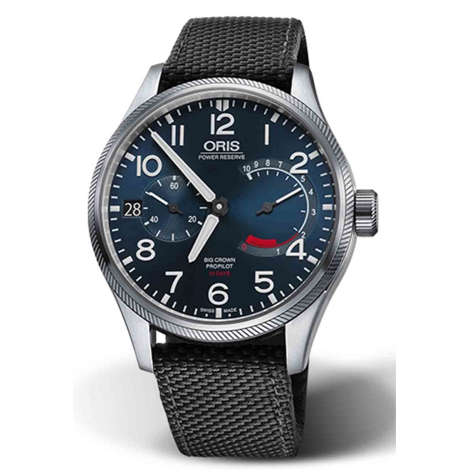 ORIS BIG CROWN PROPILOT CALIBRE 111 100 M ∅44 mm, Esfera azul, textil gris