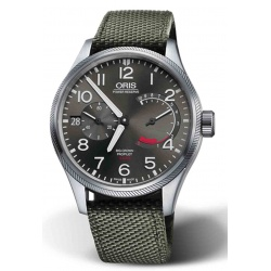 ORIS BIG CROWN PROPILOT CALIBRE 111 100 M ∅44 mm, Esfera gris, textil verde