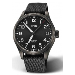 ORIS BIG CROWN PROPILOT BIG DATE 100 M ∅41 mm, Esfera negra, textil negra, Caja PVD