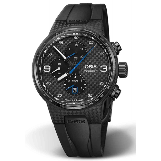 ORIS WILLIAMS CHRONOGRAPH C.F.C. 100 M ∅44 mm, Esfera negra, caucho