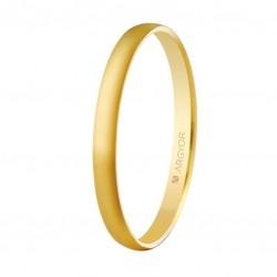 Alianza de oro amarillo 2mm de ancho
