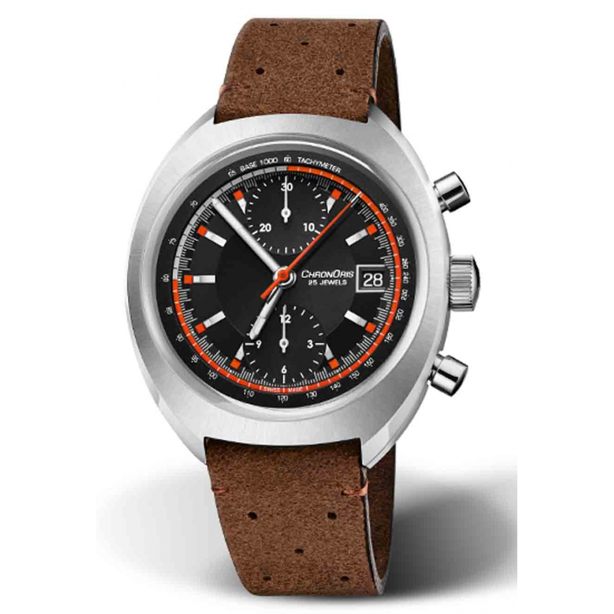 ORIS CHRONORIS LIMITED EDITION 100 M ∅40 mm, Esfera negra, piel marrón