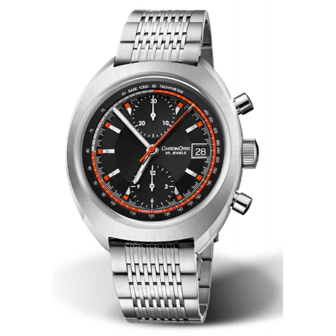 ORIS CHRONORIS LIMITED EDITION 100 M ∅40 mm, Esfera negra, brazalete acero