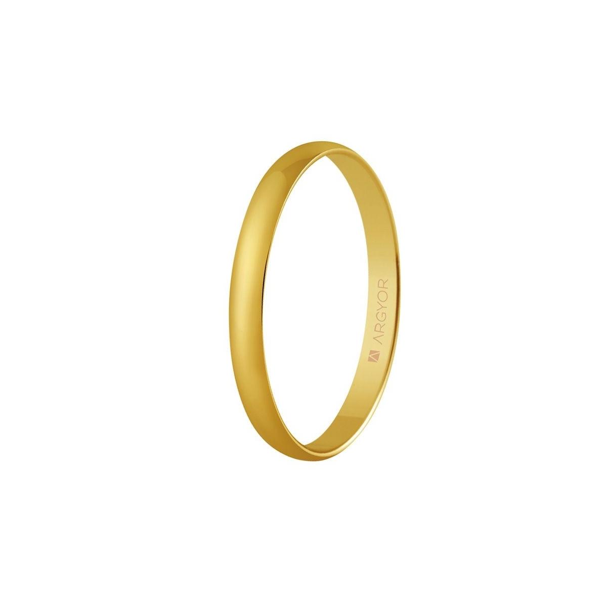 Alianza de oro amarillo 2,5 mm de ancho