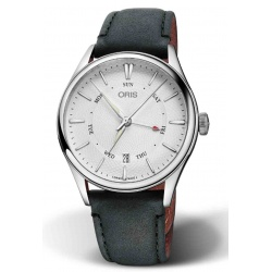 ORIS ARTELIER POINTER DAY DATE 50 M ∅40 mm, Esfera plata, piel negra