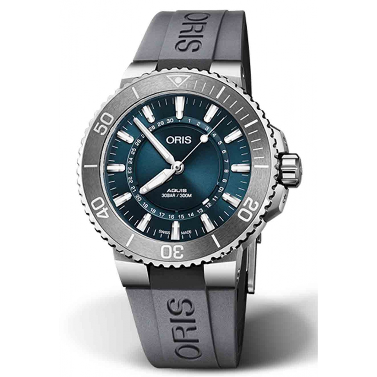 ORIS AQUIS SOURCE OF LIFE LIMITED EDITION 300 M ∅43,5 mm, Esfera azul, Caucho gris