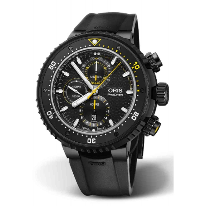 ORIS PRODIVER DIVE CONTROL LIMITED EDITION 100 M ∅51 mm, Esfera negra, SET