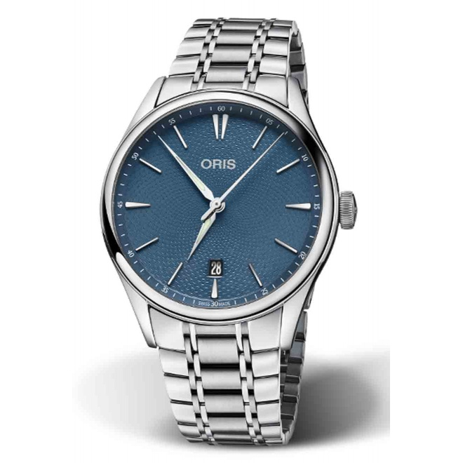 ORIS ARTELIER DATE 50 M ∅40 mm, Esfera azul, brazalete de acero