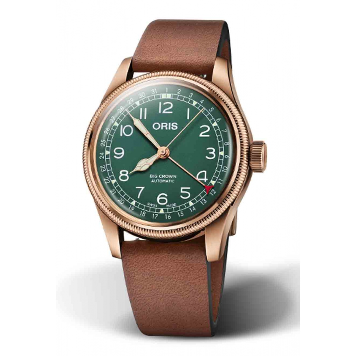 ORIS BIG CROWN POINTER DATE 80TH ANNIVERSARY EDITION 50 M ∅40 mm, Esfera verde