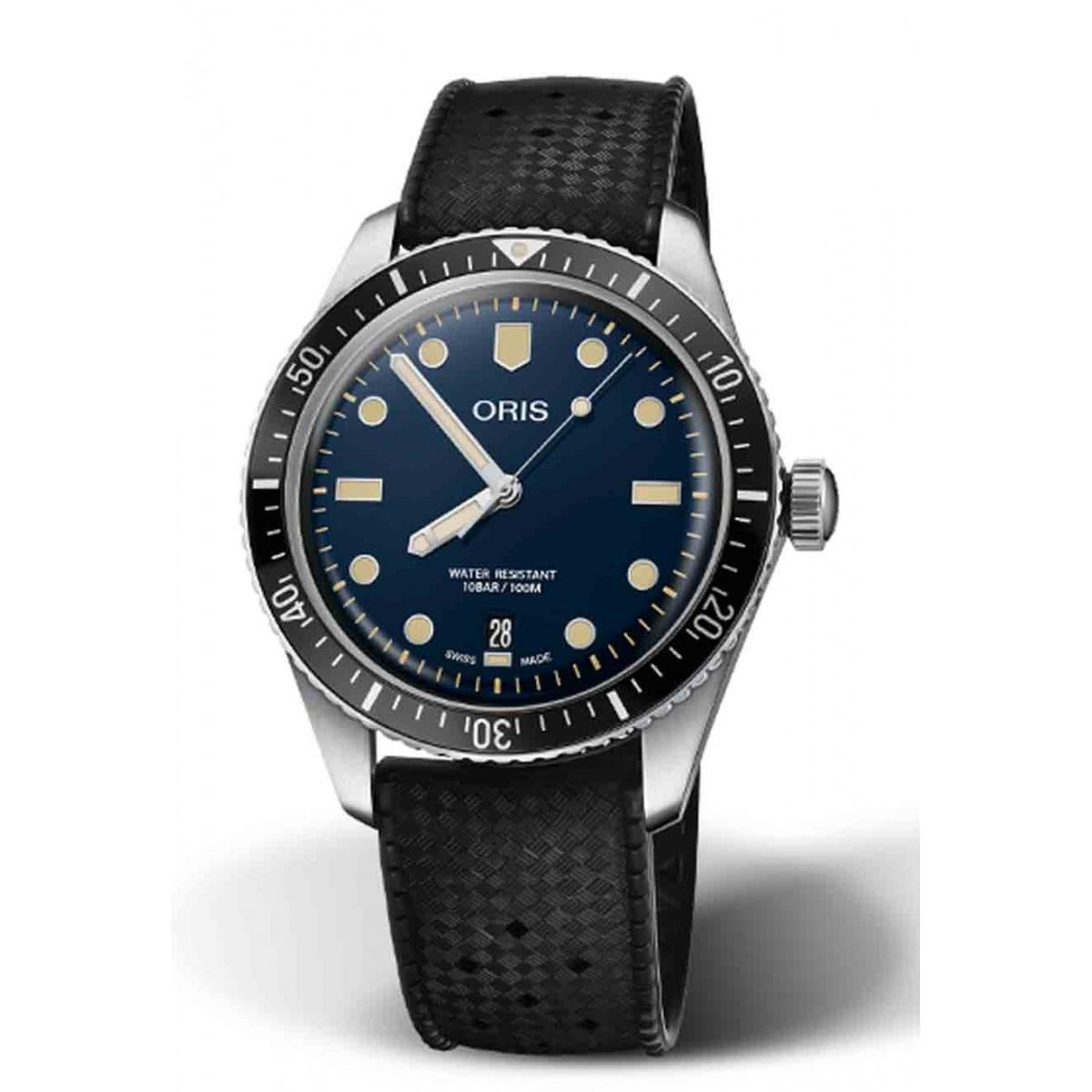ORIS DIVERS SIXTY-FIVE 100 M ∅40 mm, Esfera azul, brazalete de caucho negro