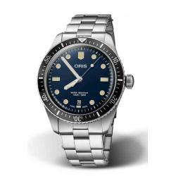 ORIS DIVERS SIXTY-FIVE 100 M ∅40 mm, Esfera azul, brazalete de acero