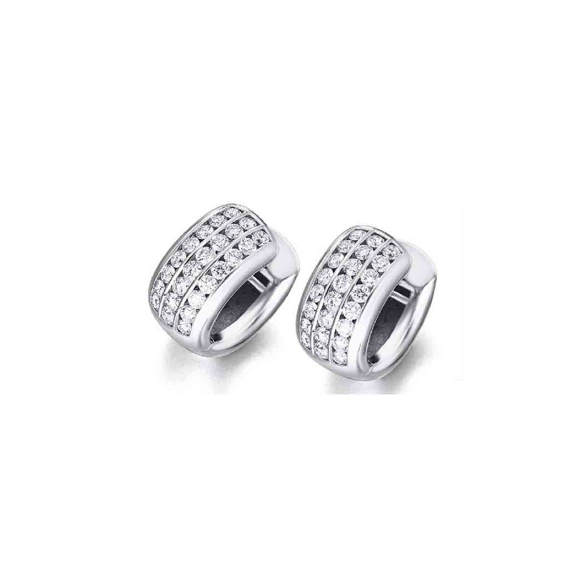 Pendientes oro blanco y Diamantes 1,36 quilates