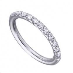 Anillo Media Alianza oro blanco y Diamantes - 0,32 quilates