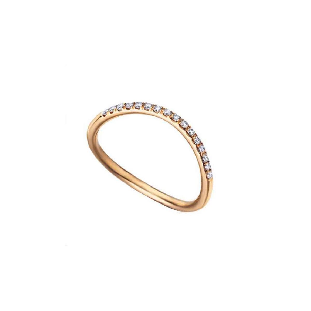 Anillo oro rosa y Diamantes - 0,13quiltes