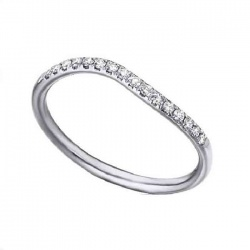 Anillo oro blanco y diamantes - 0,13 quilates
