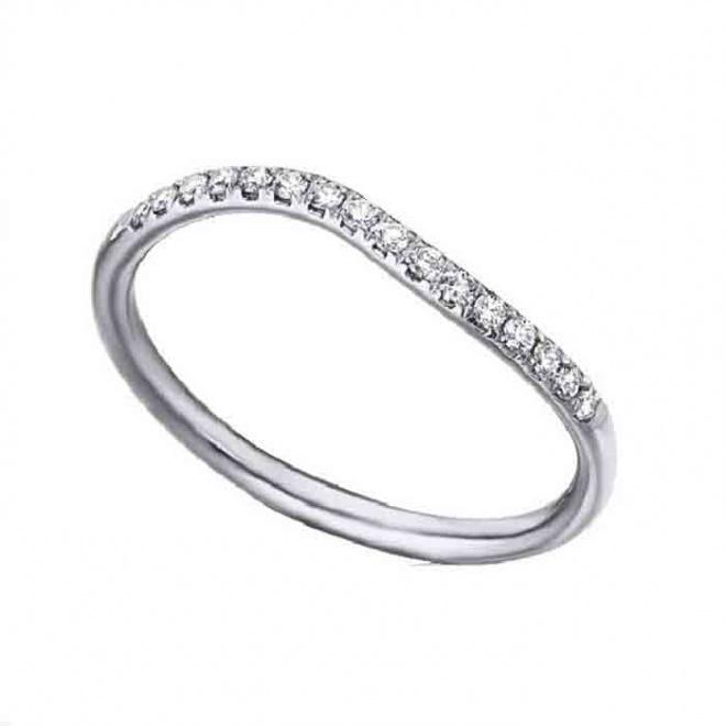 Anillo oro blanco y diamantes - 0,13 quilates