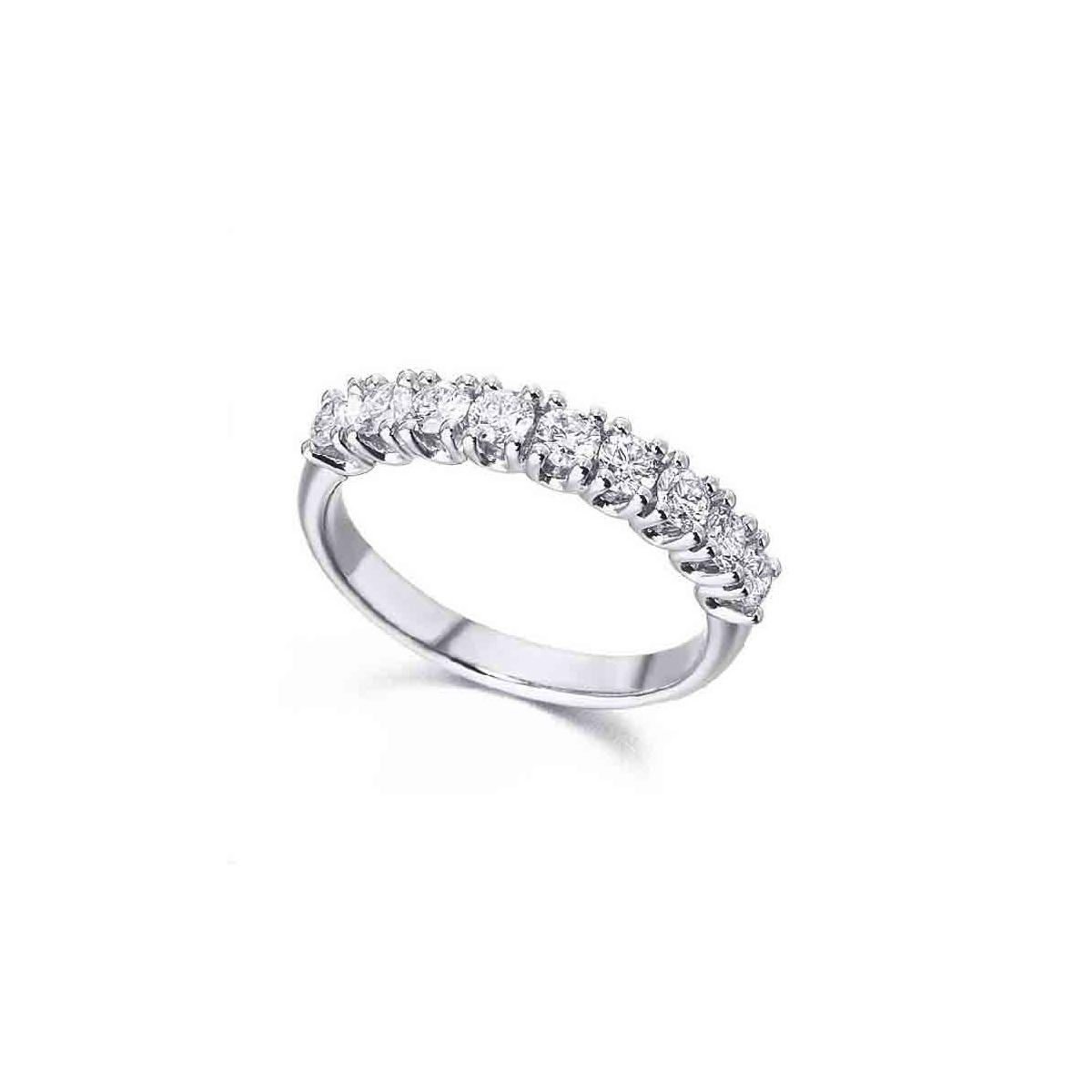 Anillo oro blanco y Diamantes en Garra - 0,70 quilates