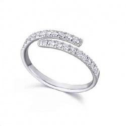 Anillo oro blanco y Diamantes - 0,40 quilates