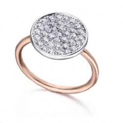 Anillo oro blanco y rosa con diamantes - 0,50 quilates