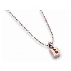 Colgante oro rosa y diamantes - Inicial - 0,01 quilates
