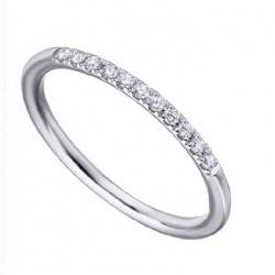Media alizanza oro blanco y Diamantes - 0,11 quilates
