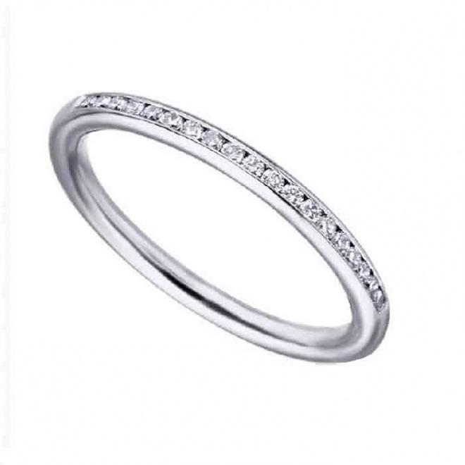 Anillo oro blanco y Diamantes - 0,14 quilates