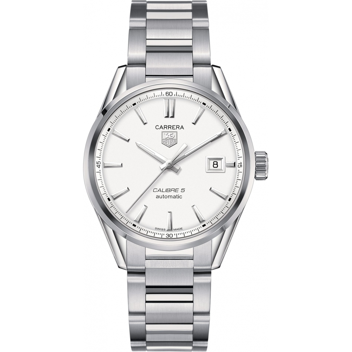 Calibre 5 Automatic Watch 39 mm Silver Dial